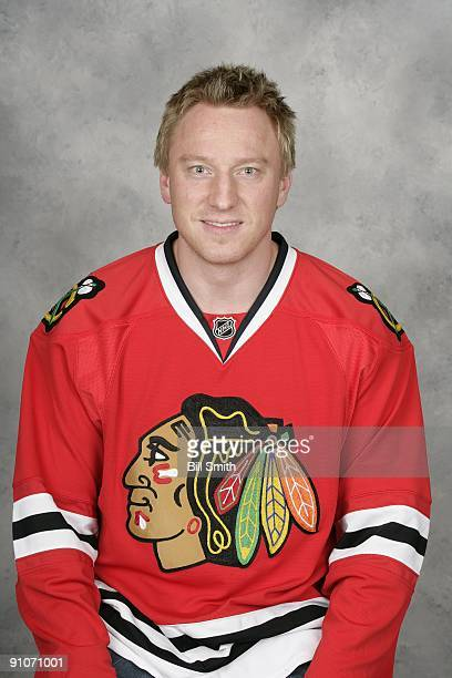 Marian Hossa of the Chicago Blackhawks poses for his official headshot for the 20092010 NHL season
