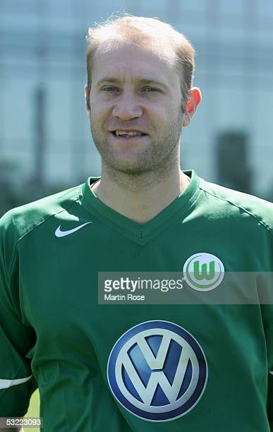 Marian Hristov poses during the team presentation of VFL Wolfsburg for the Bundesliga Season 2005 2006 on July 10 2005 in Wolfsburg Germany