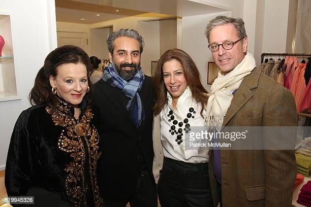 Marian McEvoy Daimel Odebra Deborah Needleman and Madison Cox attend DOMINO 'The Book of Decorating' Party at J Crew Collection Boutique on October...