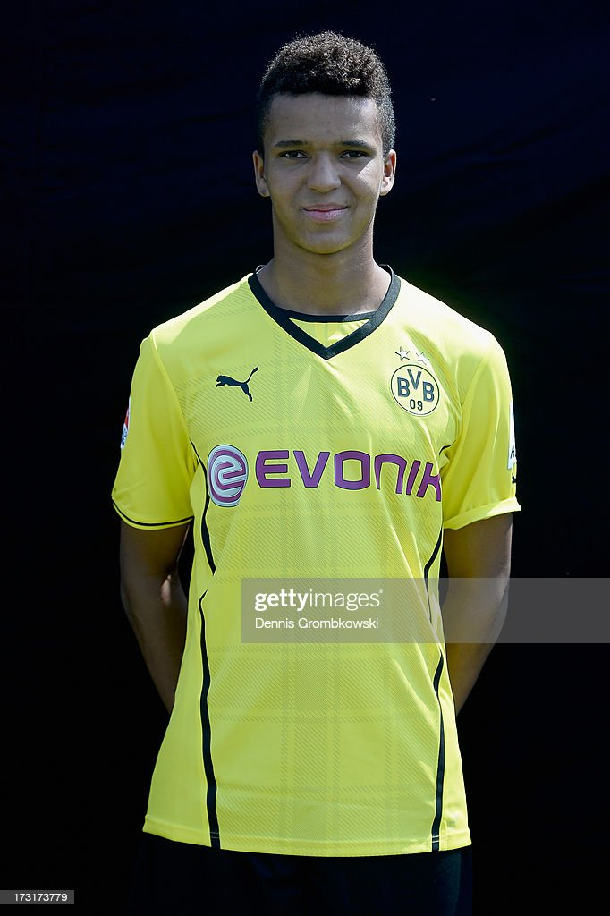 Marian Sarr poses during the Borussia Dortmund Team Presentation at Brackel Training Ground on July 9, 2013 in Dortmund, Germany.