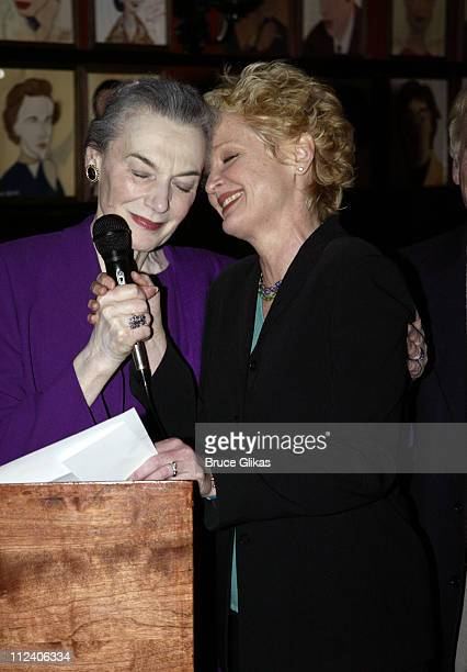 Marian Seldes and Christine Ebersole during 2003 New York Drama Critics Circle Awards at Sardi's in New York City New York United States