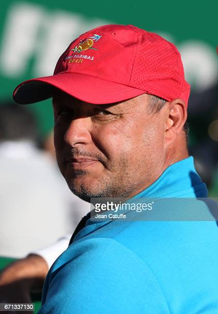 Marian Vajda coach of Novak Djokovic attends day 6 of the MonteCarlo Rolex Masters an ATP Tour Masters Series 1000 on the clay courts of the...