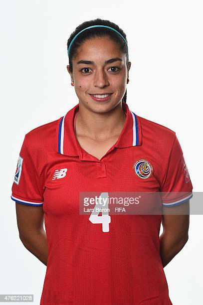 Mariana Benavides of Costa Rica poses during the FIFA Women's World Cup 2015 portrait session at Sheraton Le Centre on June 6 2015 in Montreal Canada