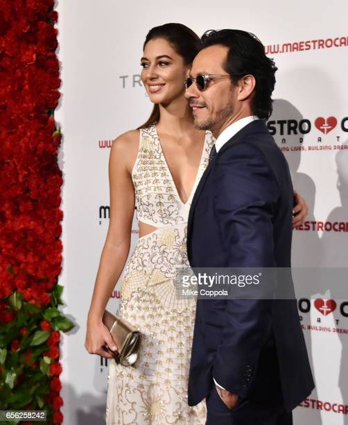 Mariana Downing and Marc Anthony attend the Maestro Cares Foundation's fourth annual 'Changing Lives/Building Dreams' gala at Cipriani Wall Street on...