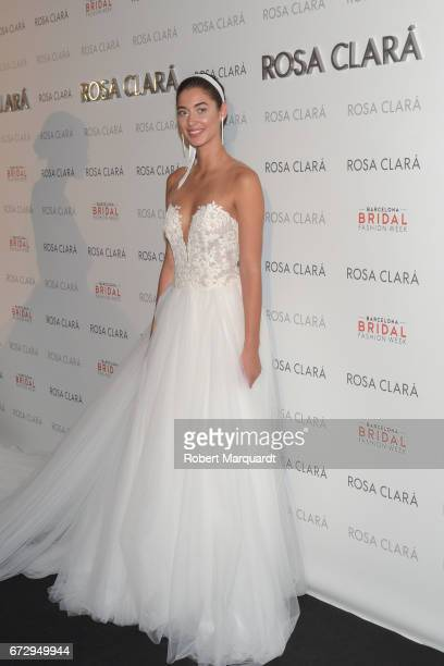 Mariana Downing poses during a photocall for the Rosa Clara Show during Barcelona Bridal Fashion Week 2017 on April 25 2017 in Barcelona Spain