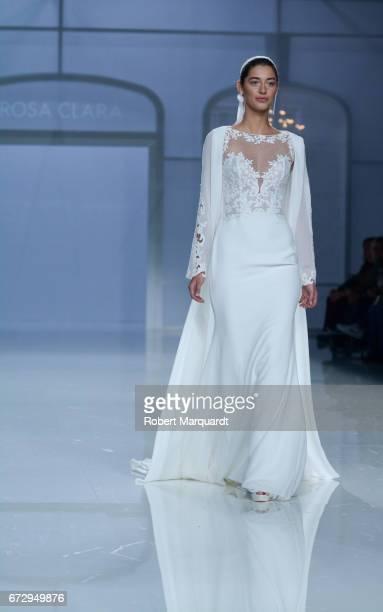 Mariana Downing walks the runway at Rosa Clara Show during Barcelona Bridal Fashion Week 2017 on April 25 2017 in Barcelona Spain