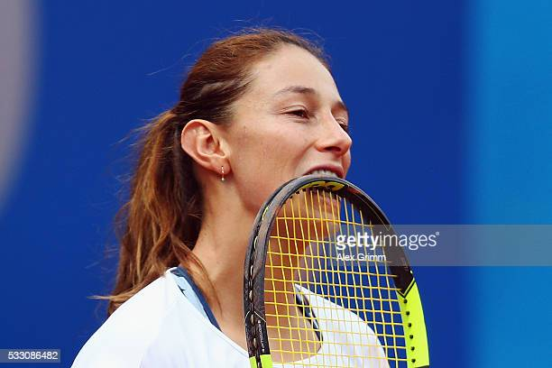 Mariana DuqueMarino of Colombia reacts during her match against Varvara Lepchenko of USA during day seven of the Nuernberger Versicherungscup 2016 on...