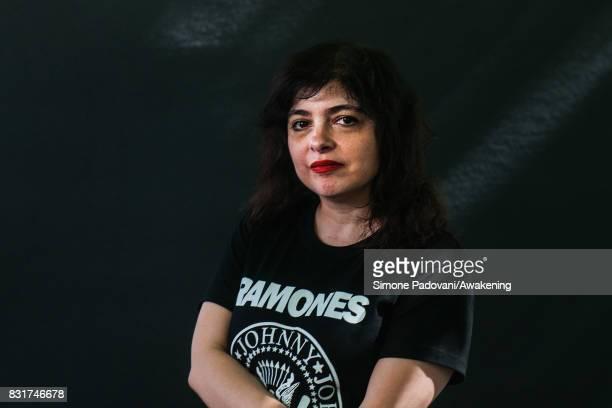 Mariana Enriquez attends a photocall during the Edinburgh International Book Festival on August 15 2017 in Edinburgh Scotland