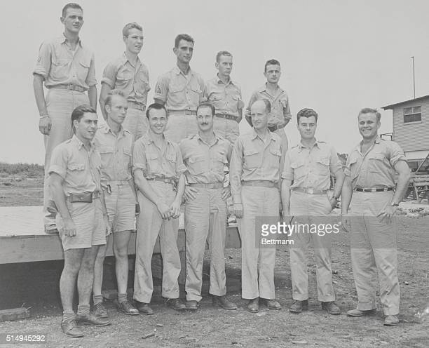 They Dropped The Atomic Bomb On Hiroshima These are the crewmen of the B29 superfortress Enola Gay from which the first atomic bomb was dropped on...