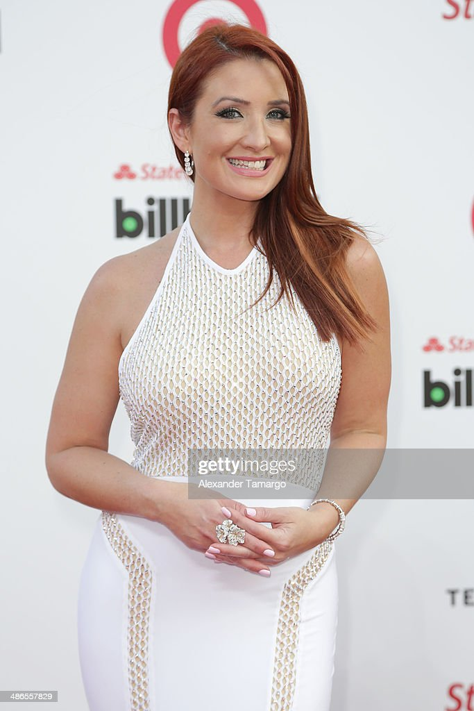 Mariana Rodriguez arrives at the 2014 Billboard Latin Music Awards at Bank United Center on April 24, 2014 in Miami, Florida.