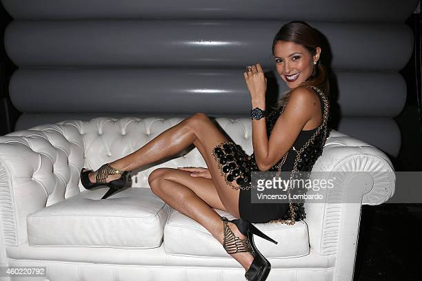 Mariana Rodriguez attends the Formen Maxi Calendar Presentation on December 9 2014 in Milan Italy