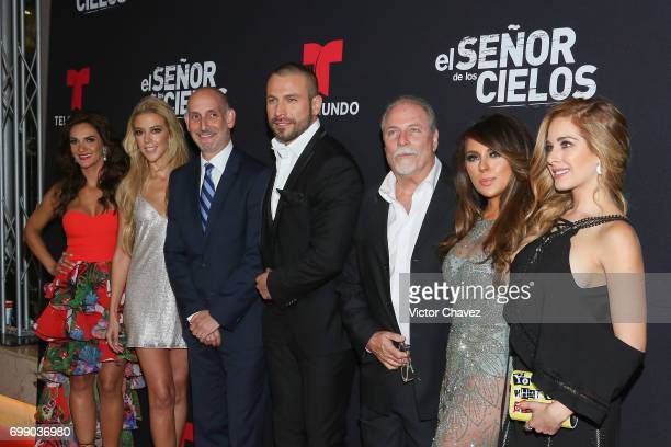 Mariana Seoane Fernanda Castillo guest Rafael Amaya guest Rafael Amaya Vanessa Villela and Carmen Aub attend 'El Senor De Los Cielos' season 5...