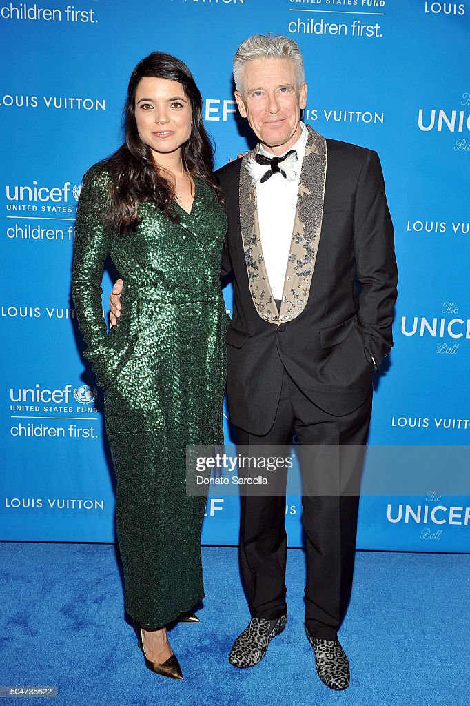 Mariana Teixeira De Carvalho and musician Adam Clayton attend the Sixth Biennial UNICEF Ball Honoring David Beckham and C L Max Nikias presented by...