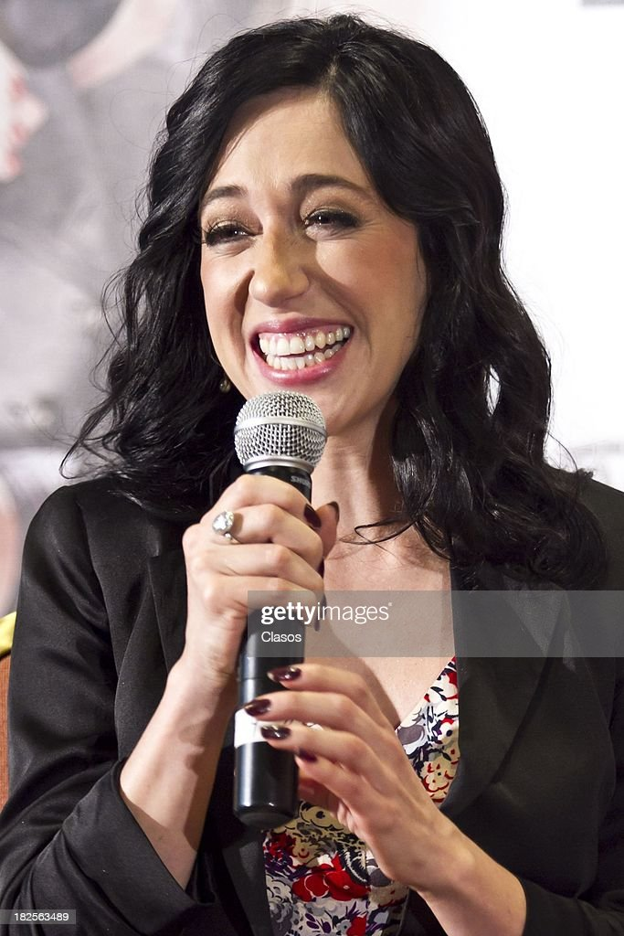 Mariana Trevino speaks during a press conference of te Mexican film Tercera Llamada at the Maria Isabel Sheraton Hotel on September 30, 2013 in Mexico City, Mexico.
