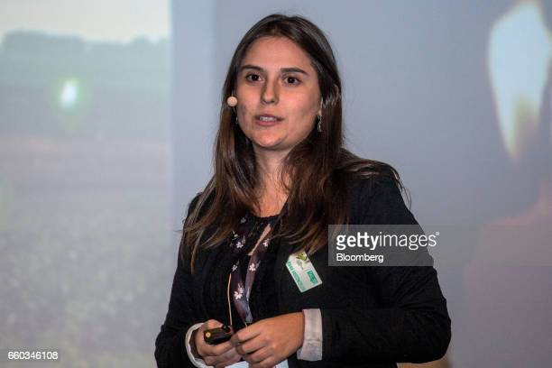Mariana Vasconcellos chief executive officer of Agrosmart speaks during the Global Agribusiness Forum in Sao Paulo Brazil on Wednesday March 29 2017...