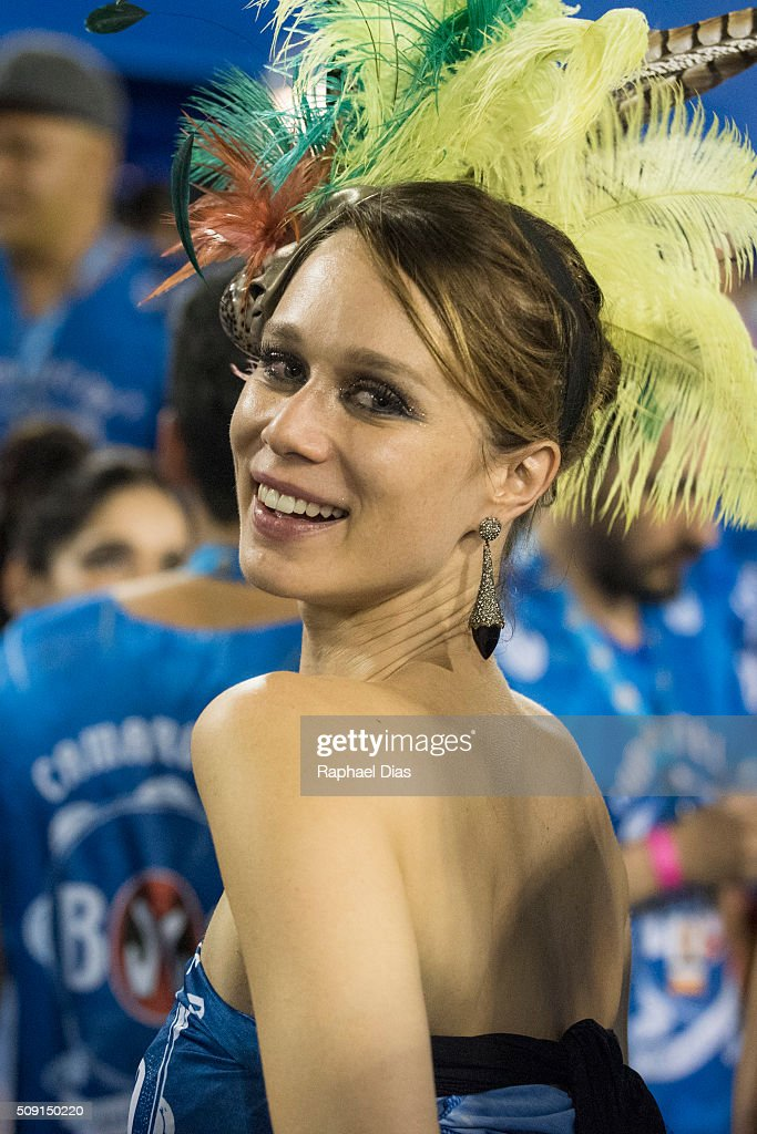 <a gi-track='captionPersonalityLinkClicked' href=/galleries/search?phrase=Mariana+Ximenes&family=editorial&specificpeople=6369086 ng-click='$event.stopPropagation()'>Mariana Ximenes</a> attends to the Rio Carnival in Sambodromo on February 8, 2016 in Rio de Janeiro, Brazil. Despite the Zika virus epidemic, thousands of tourists gathered in Rio de Janeiro for the carnival.