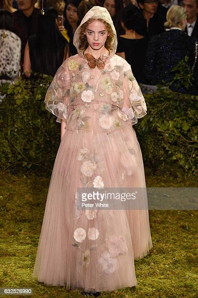Mariana Zaragoza walks the runway during the Christian Dior Spring Summer 2017 show as part of Paris Fashion Week on January 23 2017 in Paris France
