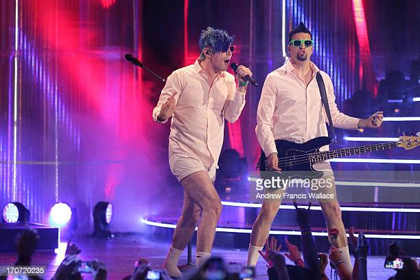 TORONTO ON JUNE 16 Marianas Trench perform at the 2013 Much Music Video Awards June 16 2013
