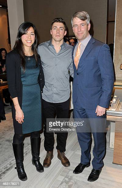 Mariane StMaurice Joffrey Lupul Michael Burns attend The David Yurman Toronto Grand Opening event on January 16 2014 in Toronto Canada