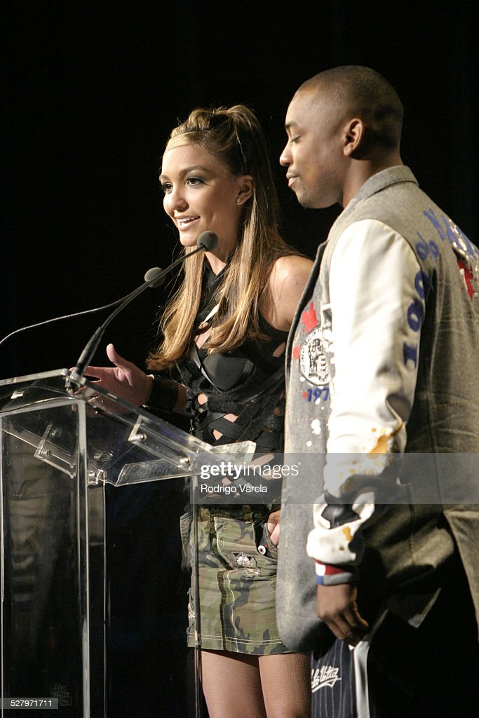 Marianela and Dennis Da Menace during Billboards RB HipHop Awards Show at Jacki Gleason Theater in Miami Beach Florida United States