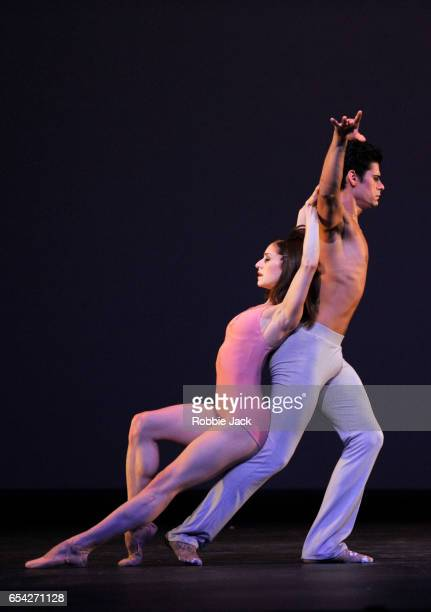 Marianela Nunez and Thiago Soares in the Royal Ballet's production of Christopher Wheeldon's After The Rain at the Royal Opera House on March 14 2017...