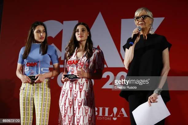 Marianna Fontana and Angela Fontana receive the Ciak D'Oro 2017 award at Link Campus University on June 8 2017 in Rome Italy
