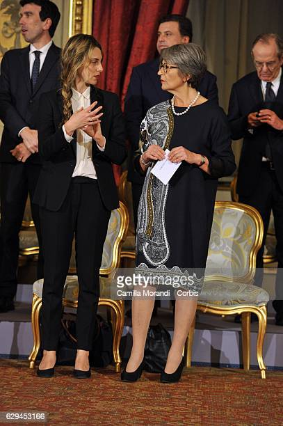 Marianna Madia and Anna Finocchiaro the Qurinale Place on December 12 2016 in Rome Italy