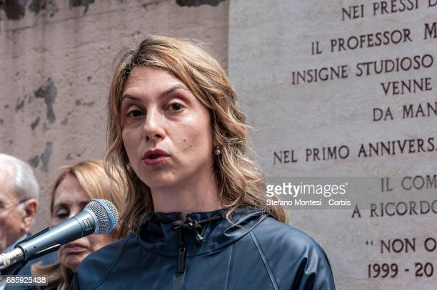 Marianna Madia Minister of Public Administration and Simplification during the Commemoration by Massimo D'Antona jurist and consultant of the...