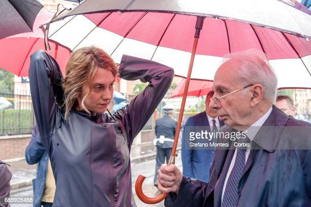Marianna Madia Minister of Public Administration and Simplification and Giuliano Amato Constitutional Judge during the Commemoration by Massimo...