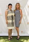 Marianna Zimmerman and Lisa Twyman attend Rainbeau Mars E Book Brunch Celebration on July 22 2016 in Beverly Hills California