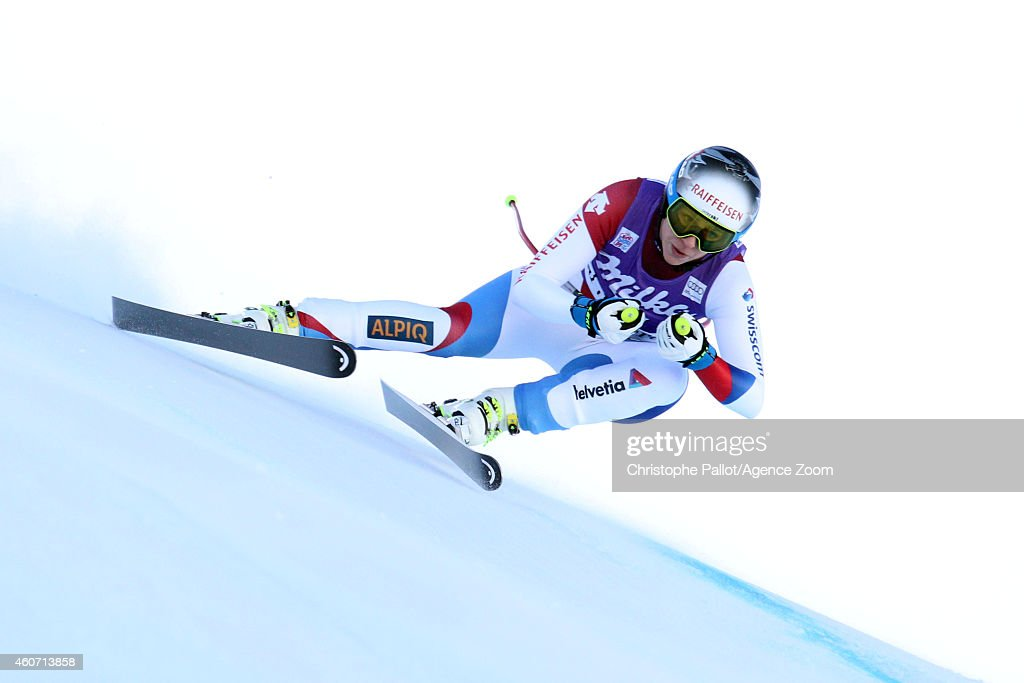 Marianne Abderhalden of Switzerland competes during the Audi FIS Alpine Ski World Cup Women's Downhill on December 20, 2014 in Val dâIsere, France.