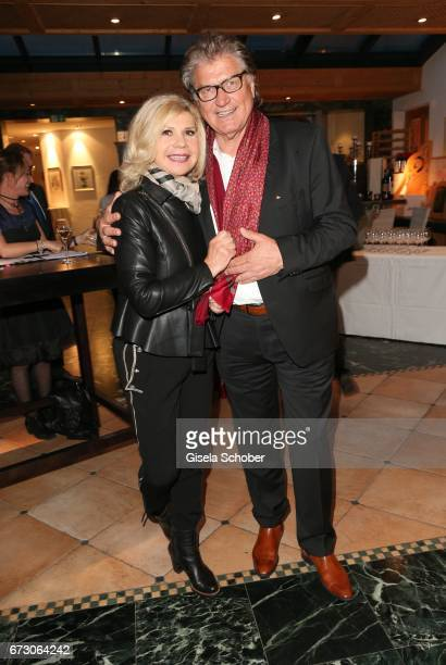 Marianne and Michael Hartl during the piano night hosted by Wempe and Glashuette Original at Gruenwalder Einkehr on April 25 2017 in Munich Germany