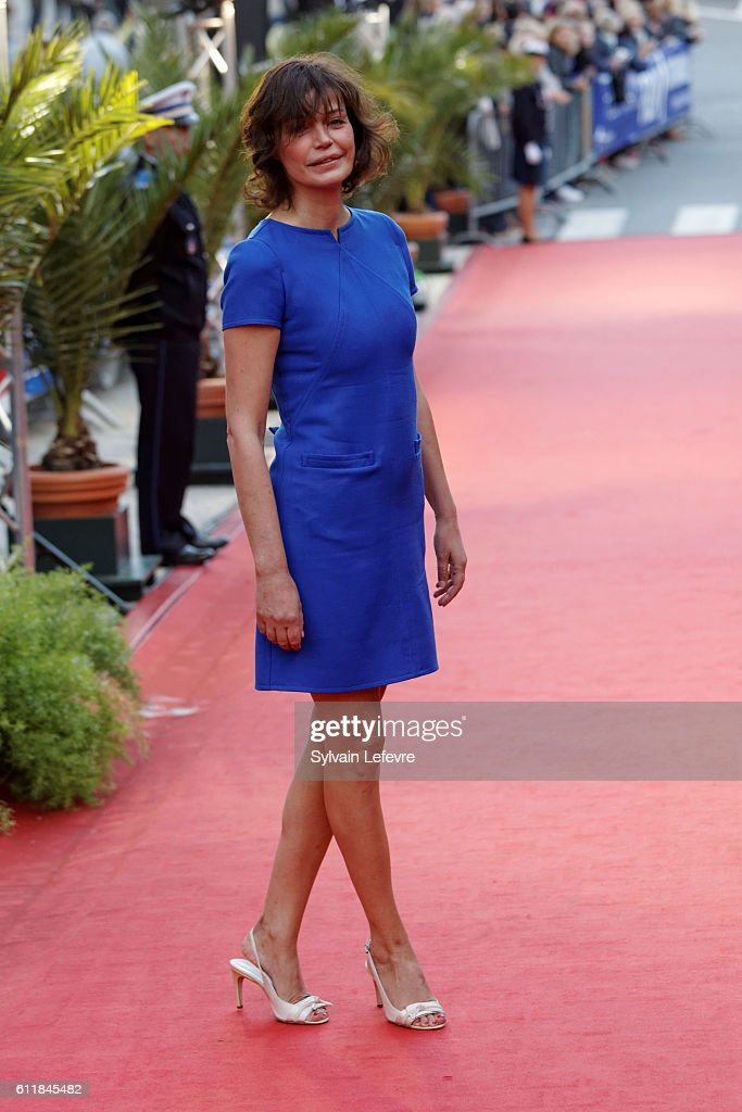 Marianne Denicourt attends closing ceremony of 27th Dinard British Film Festival on October 1, 2016 in Dinard, France.