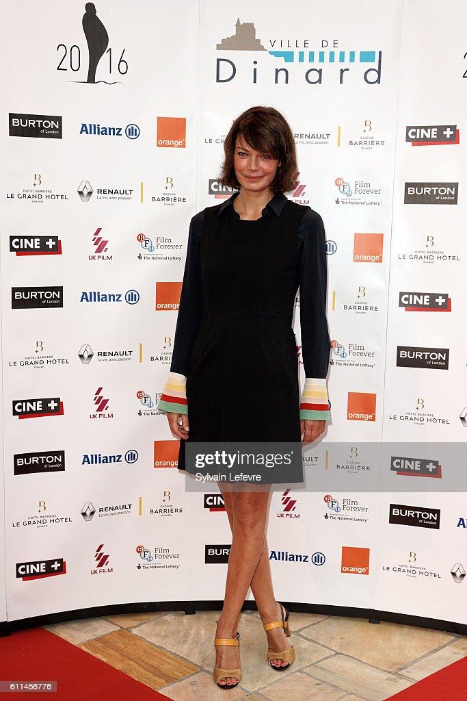 Marianne Denicourt attends opening ceremony of 27th Dinard British Film Festival on September 29, 2016 in Dinard, France.