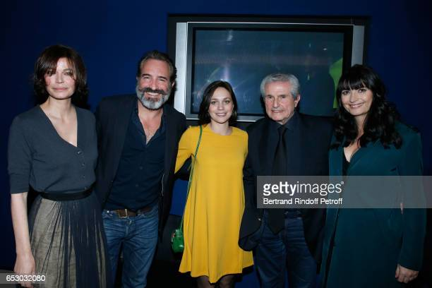 Marianne Denicourt Jean Dujardin Nathalie Pechalat Claude Lelouch and Valerie Perrin attend the 'Chacun sa vie' Paris Premiere at Cinema UGC...