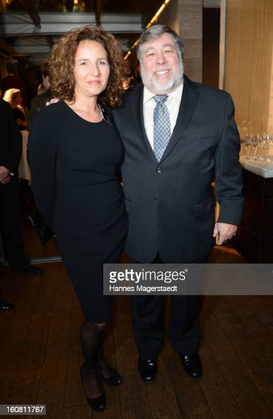 Marianne Doelz manager Handelsblatt and Steve Wozniak cofounder Appleattend the Best Brands 2013 Gala at Bayerischer Hof on February 6 2013 in Munich...