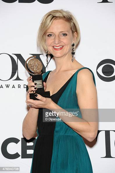 Marianne Elliott poses in the press room during the American Theatre Wing's 69th Annual Tony Awards at Radio City Music Hall on June 7 2015 in New...