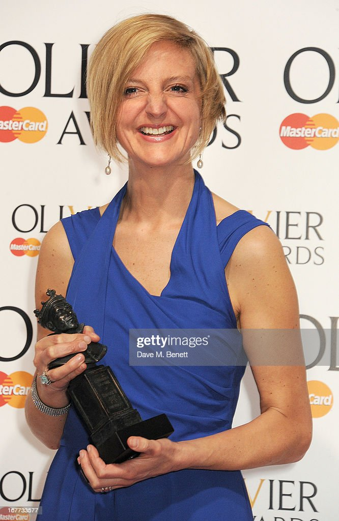 Marianne Elliott, winner of Best Director for 'The Curious Incident Of The Dog In The Night-Time', poses in the press room at The Laurence Olivier Awards 2013 at The Royal Opera House on April 28, 2013 in London, England.