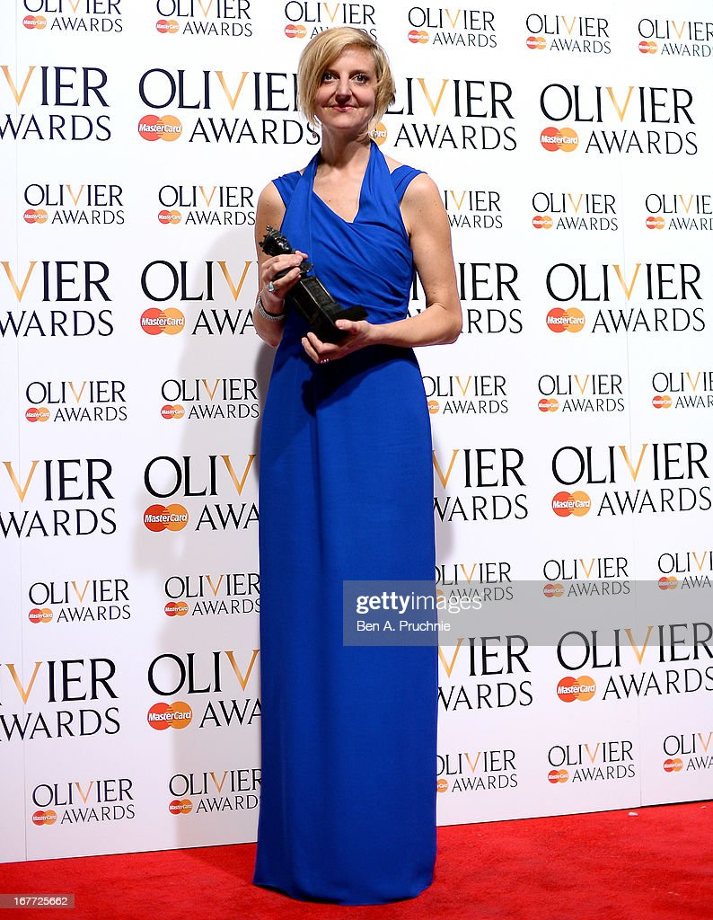Marianne Elliott with her Best Director award during The Laurence Olivier Awards at the Royal Opera House on April 28, 2013 in London, England.