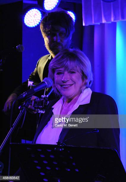 Marianne Faithful performs at Quaglino's on November 5 2014 in London England