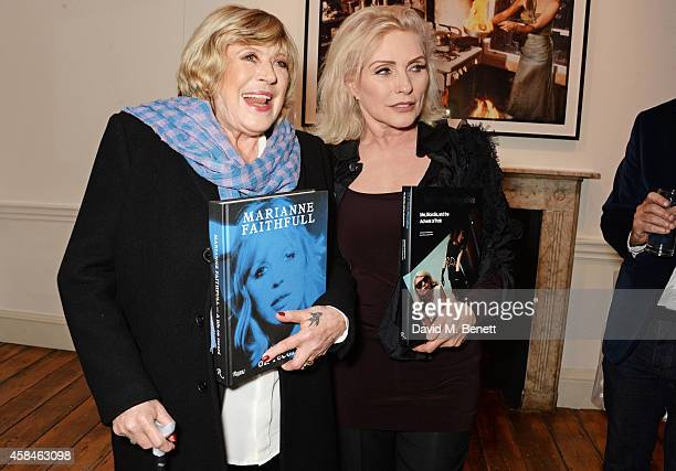 Marianne Faithfull and Debbie Harry attend the private view of 'Chris Stein/Negative Me Blondie and the Advent of Punk' at Somerset House on November...