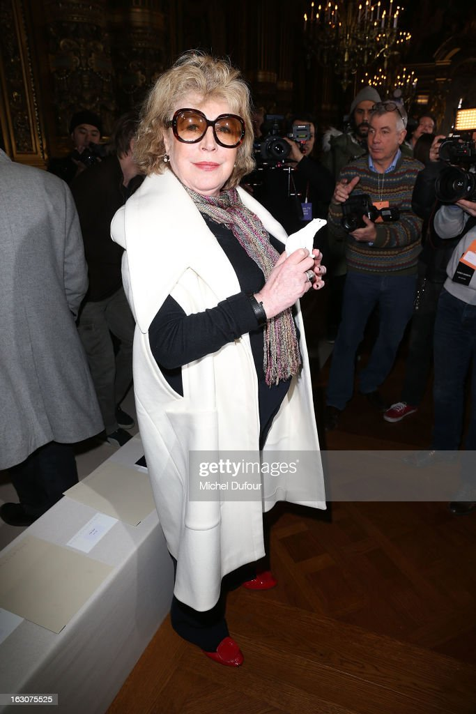 <a gi-track='captionPersonalityLinkClicked' href=/galleries/search?phrase=Marianne+Faithfull&family=editorial&specificpeople=204597 ng-click='$event.stopPropagation()'>Marianne Faithfull</a> attends the Stella McCartney Fall/Winter 2013 Ready-to-Wear show as part of Paris Fashion Week on March 4, 2013 in Paris, France.