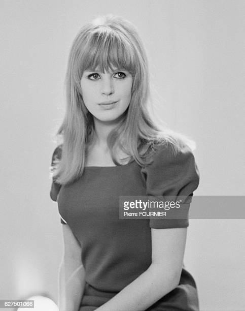 Marianne Faithfull on a French television set in Paris