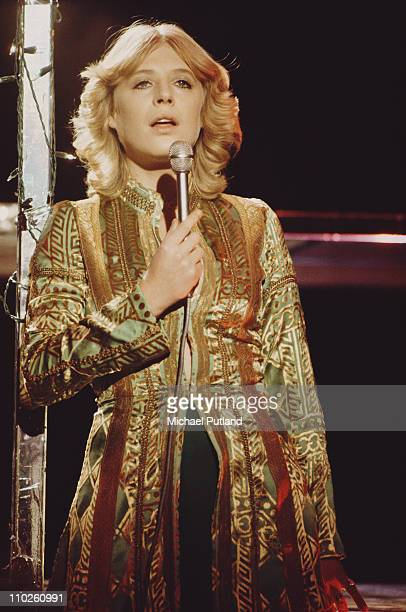 Marianne Faithfull performing on a TV show London 1975