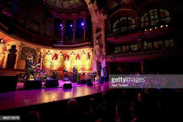 Marianne Faithfull performs in concert at Palau de la Musica Catalana on December 9 2014 in Barcelona Spain