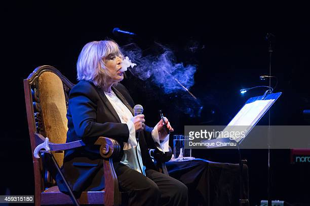 Marianne Faithfull performs on stage at L'Olympia on November 20 2014 in Paris France