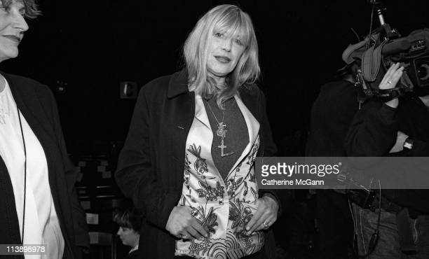 Marianne Faithfull poses for a photo during fashion week in 1994 in New York City New York