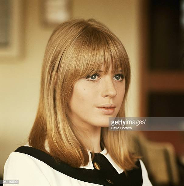 Marianne Faithfull poses for a portrait backstage at Aston Studios during the filming of Thank Your Lucky Stars TV show in May 1965 in Birmingham...