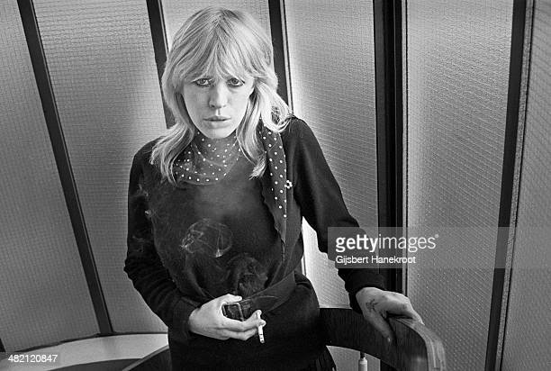 Marianne Faithfull poses for a portrait session in 1976 in London
