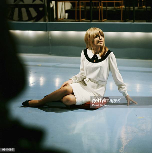 Marianne Faithfull poses on the set of Thank Your Lucky Stars TV show at Aston Studios in May 1965 in Birmingham United Kingdom Image is part of...